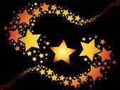 Shooting stars — Stock Vector