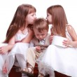 Kids on a suitcase — Stock Photo #11112940