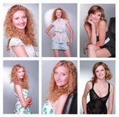Lovely smiling girls — Stock Photo