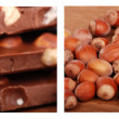 Choco and hazelnuts — Stock Photo