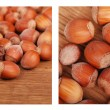 Постер, плакат: Two images of hazelnuts