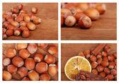 Tasty photos of hazelnuts — Stock Photo