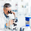Senior male researcher carrying out scientific research in a lab — Stock Photo #10957262