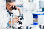 Senior male researcher carrying out scientific research in a lab — Photo