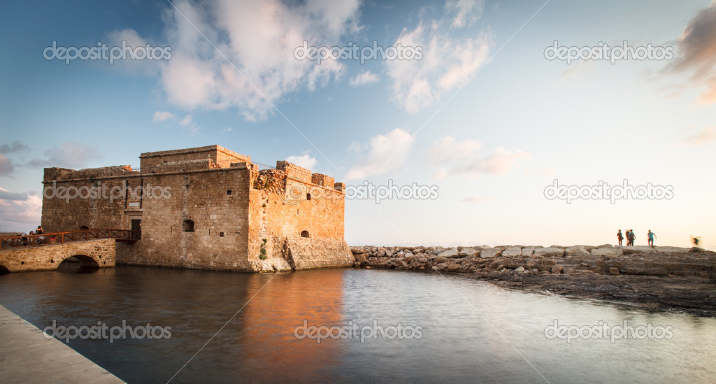 Night view of the Paphos Castle (Paphos, Cyprus)  Stock Photo #11302777