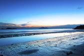 沿着海岸,香港日落. — 图库照片