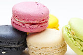 French dessert macarons — 图库照片