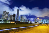 Hong kong şehir merkezinde, gece — Stok fotoğraf
