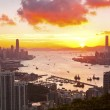 Hong Kong sunset at downtown — Stock Photo #11521482
