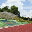 Stadium with running track — Stock Photo