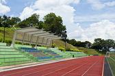 Stadium with running track — Stock Photo