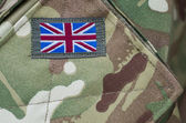 Britse leger camouflage uniform — Stockfoto