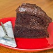 Home made chocolate cake — Stock Photo