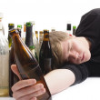 Junger Alkoholiker - Stock Photo