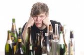 Junger Alkoholiker — Stock Photo