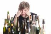 Junger alkoholiker — Stok fotoğraf