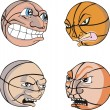 Stock Vector: Funny Basketballs
