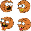 Ugly Basketballs — Stock Vector