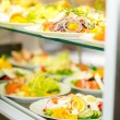 Self service buffet fresh healthy salad selection — Foto de Stock