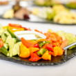 Catering table buffet vegetable salad plate — Stock Photo #10887329