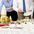 Business catering-Service bei treffen — Stockfoto