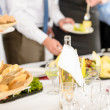 Business catering service at meeting — Stock Photo #10887542