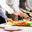 Business catering take buffet food — Stock Photo #10887569