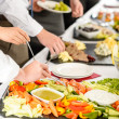 Stock Photo: Business catering take buffet food