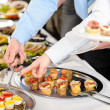 Snacks buffet at business company meeting — Stock Photo #10887617