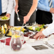Business catering essen für Firmenfeier — Stockfoto