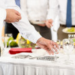 Business catering glasses for company celebration — Stock Photo #10887682