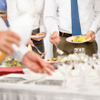 Business catering for company event - Stock Photo