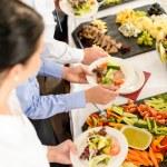 餐饮食品自助商务会议 — 图库照片