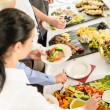 Catering food buffet at business meeting — Stock Photo #10887760