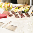 Catering mini dessert at business buffet table — Foto de Stock