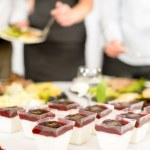 Catering dessert mini creamy appetizers — Stock Photo