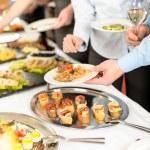 občerstvení formou bufetu v podnikání firemní setkání — Stock fotografie