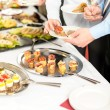 Business take buffet appetizers — Stockfoto