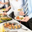 Business take buffet appetizers — Stock Photo