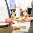 Stockfoto: Cheers to business successful cooperation