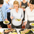 Company meeting catering business eating - Stock Photo