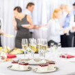 Foto de Stock  : Desserts and Champagne for meeting participants