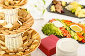 Catering buffet served food on banquet table — Stock Photo