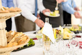Business catering service at meeting — Stock Photo