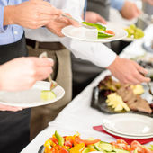Business catering take buffet food — Stok fotoğraf
