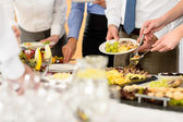 Business catering food for company celebration — Stok fotoğraf