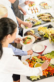 Catering food buffet at business meeting — Stok fotoğraf