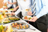 Business take buffet appetizers — Stok fotoğraf
