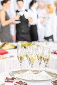 Champagne toast glasses for meeting participants — Foto de Stock