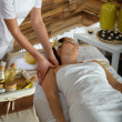 Woman shoulder massage at luxury spa centre — Foto Stock